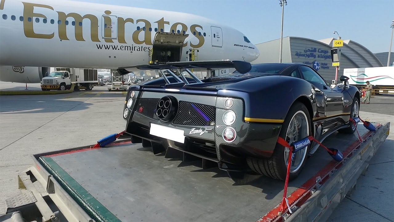 Great Flying A Pagani Zonda From Dubai To Italy   First Class!   YouTube