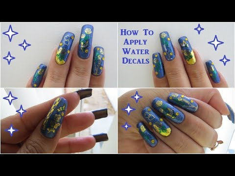 How To Apply Nail Art Water Decals Youtube