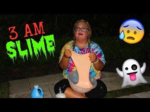 DON'T MAKE FLUFFY SLIME AT 3 AM!! *SO CREEPY*