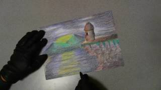 Colored Plastic Pencils お子ちゃま画材!?【サクラ:クーピーペンシル】を使って描いてみた。