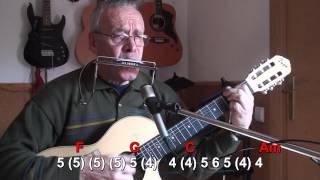 Nº 003 Blowinin the wind (Bob Dylan) Harmonica (C-D) TAB+CHORS Mundharmonika