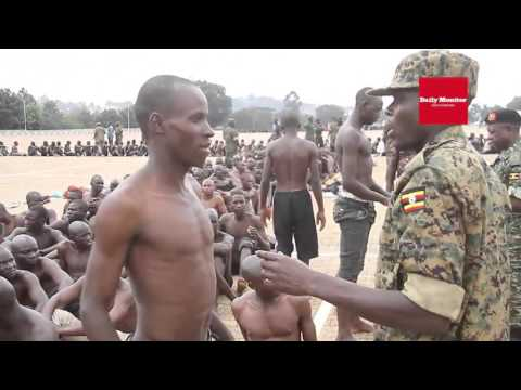 Army recruitment at Kololo
