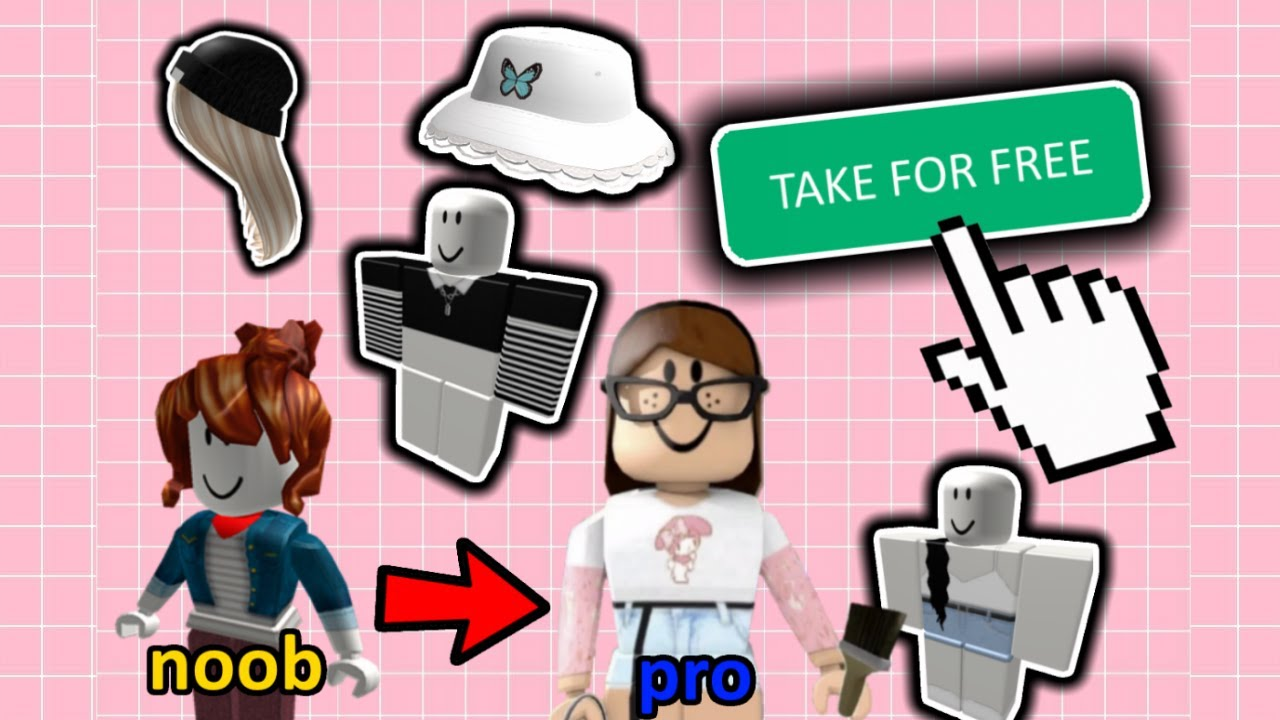 How to Get These Aesthetic Items/Clothes for FREE on Roblox