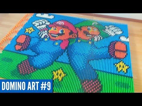 MARIO & LUIGI MADE FROM 7,600 DOMINOES | Domino Art #9