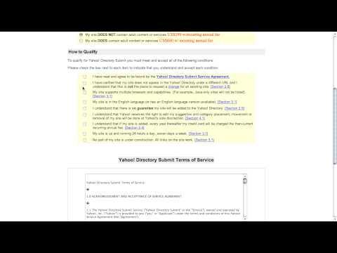 Yahoo Directory Paid Listings
