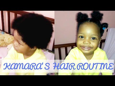 kamara's-hair-routine💆newborn-to-toddler-afro-hair