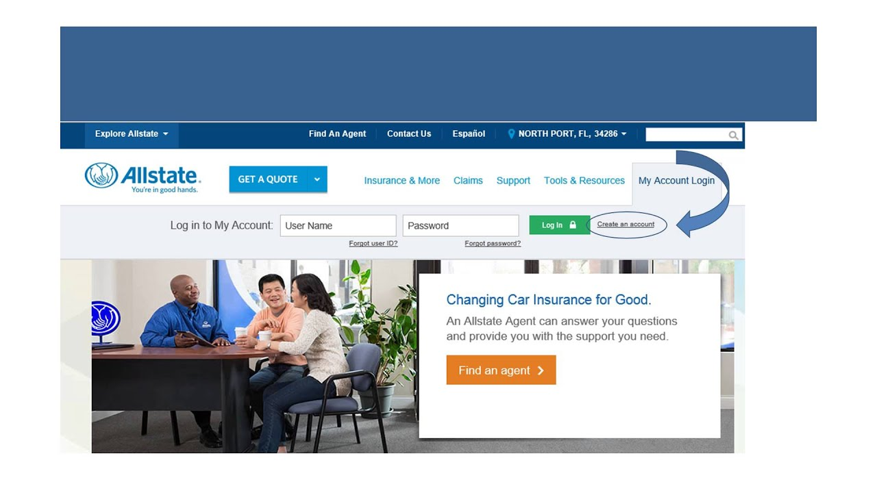 my allstate  Setting up My Allstate Account - YouTube