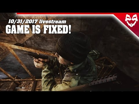 Escape from Tarkov GAME IS FIXED livestream 10/31/2017