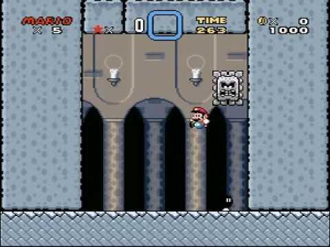 Super Mario World Custom Sprite Homing Thwomp Boss V20 Youtube