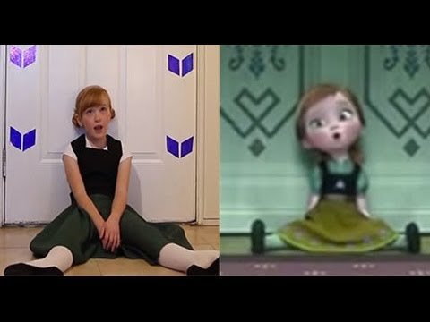 do you want to build a snowman?  frozen cover little anna in real life