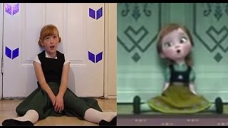 Do You Want To Build a Snowman? - Frozen Cover Little Anna In Real Life you 検索動画 27