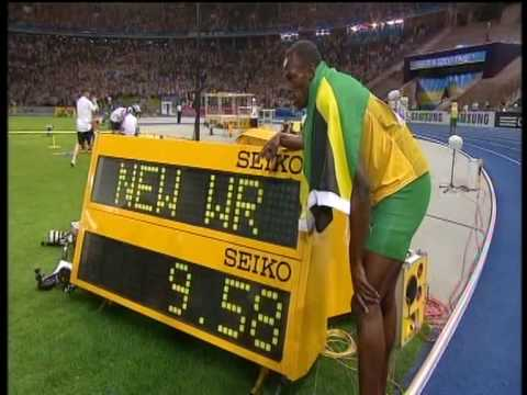 Usain Bolt new 100m world record: 9.58!!!