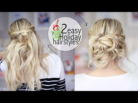 2 Easy Holiday Hairstyles