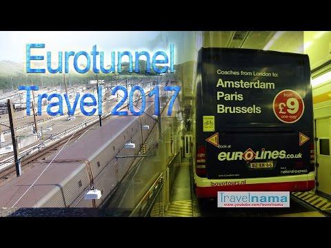 Bus on a Train through EURO TUNNEL - 2017 - Le Tunnel sous la Manche - 4K quality