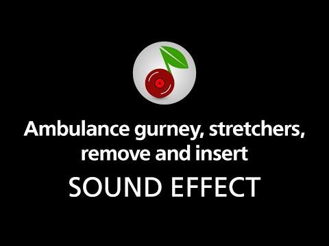 Ambulance gurney, stretchers, remove and insert, sound effect