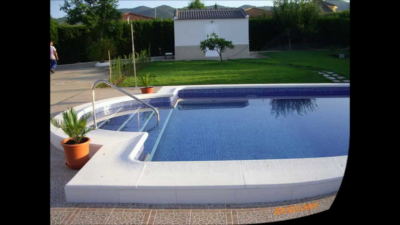Construcci n de piscina obra nueva youtube for Medidas de piscinas de obra
