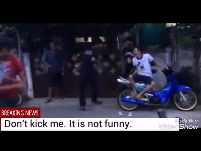 Don't Kick Me. It is so funny moment. Well done guys.