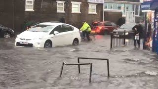 Flash floods cause chaos across London, disrupting Tube travel