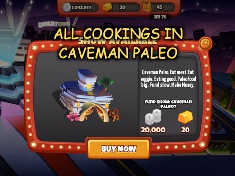 All Cookings In Caveman Paleo (Cooking Dash 2016 & Cooking Dash)
