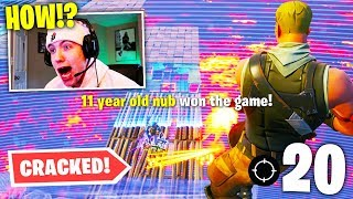 INSANE 11 Year Old CARRIES ME in *NEW* Fortnite Floor is Lava LTM! (20 bomb)