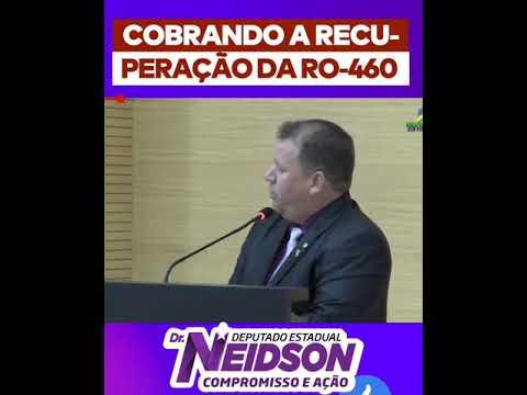 Vídeo: Dr. Neidson cobra recuperação da estrada RO-460