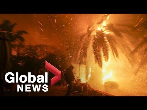 Fire officials update Californias Woolsey Fire