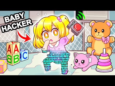 Playing As A BABY HACKER In Roblox!
