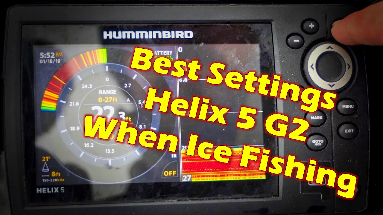 Best Settings for Humminbird Helix 5 G2 When Ice Fishing