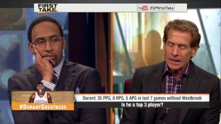 ESPN First Take - Is Kevin Durant A TOP3 Player?