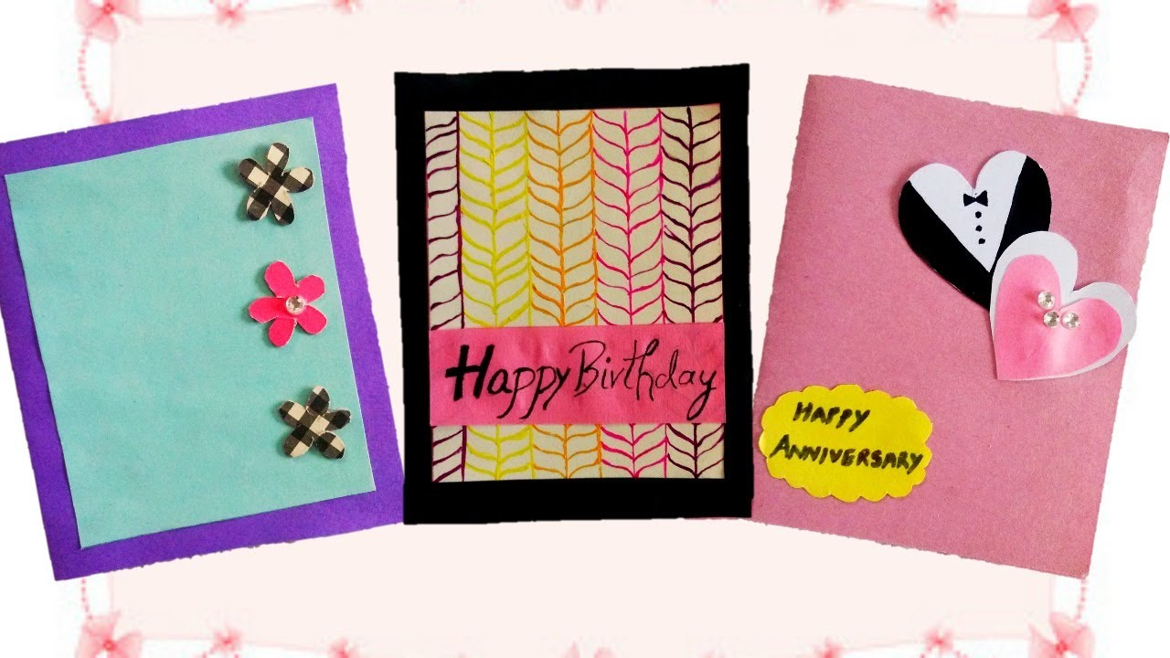 3 Cute And Easy Greeting Cards For Any Occasion Youtube