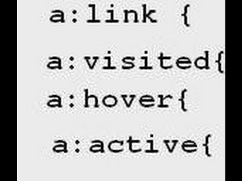 HTML, CSS: Links, Programming The 4 States