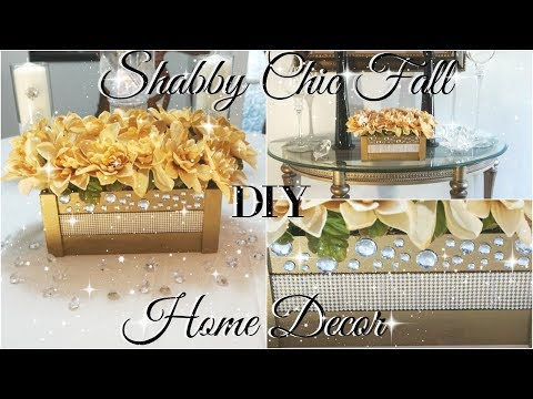 DIY DOLLAR STORE SHABBY CHIC FALL HOME DECOR   🌹 SHABBY CHIC DECOR IDEAS🌹   SHABBY CHIC FLOWERS