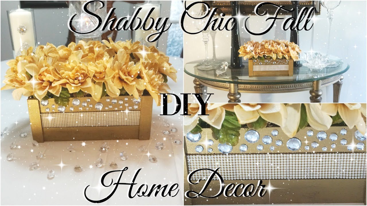 DIY DOLLAR STORE SHABBY CHIC FALL HOME DECOR | 🌹 SHABBY CHIC DECOR IDEAS🌹  | SHABBY CHIC FLOWERS