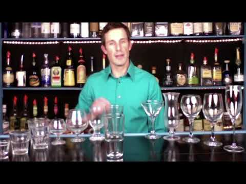 ALL THE GLASSWARE IN A BAR - Bartending 101