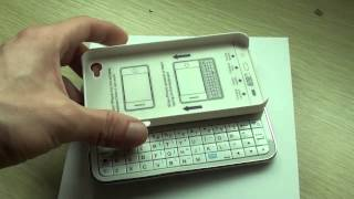 ultra thin slide out wireless keyboard for iphone 4 4s white