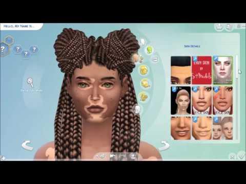 The Sims 4 Cas Vitiligo Edition Skin Cc Link Youtube