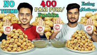 pani puri eating challenge