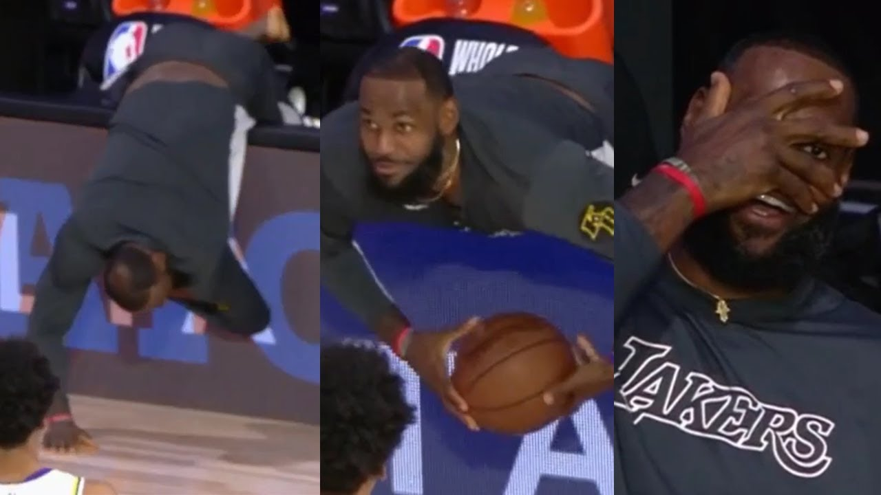 LeBron James couldn't contain his energy from the bench