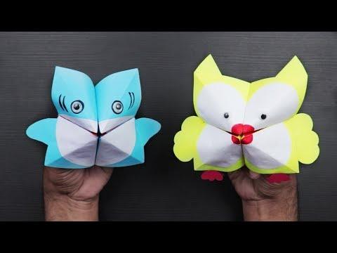 How to make a Shark Hand Puppet DIY   Paper Hand Puppet Craft   craftsbox