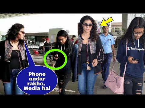 Kajol got angry on daughter Nysa Devgan for using mobile phone all the time  phone addicted