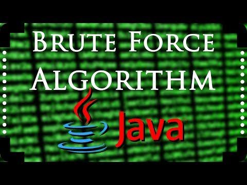 Java Algorithms - Brute Force
