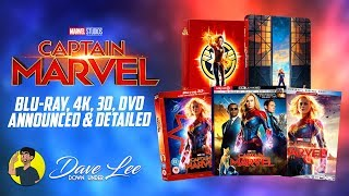 CAPTAIN MARVEL - Blu-ray, 4K, 3D, DVD Announced & Detailed