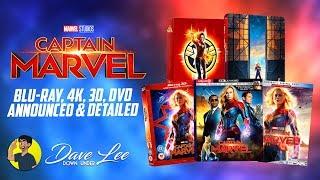 CAPTAIN MARVEL - Blu-ray, 4K, 3D, DVD Announced & Detailed