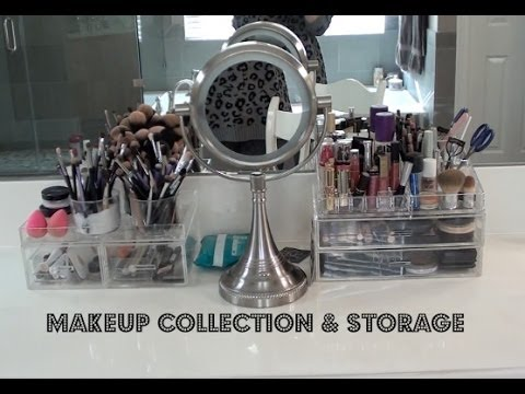 Makeup Collection Storage YouTube - Container store makeup organizer