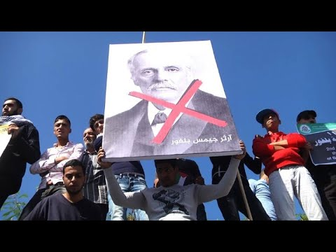 Protest Against Britain's Balfour Declaration In Gaza