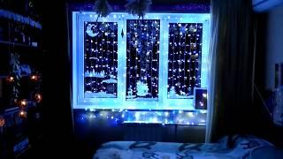 Новогодние гирлянды на окно.