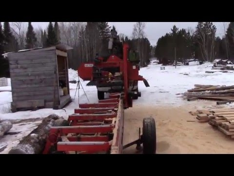 Portable sawmill site setup, quick note on stacking and drying lumber