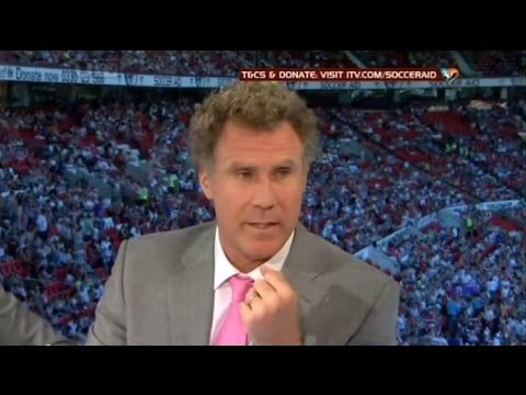 Soccer Aid 2012 Will Ferrell,Mike Myers,Gerard Butler,Woody Harrelson PreMatch