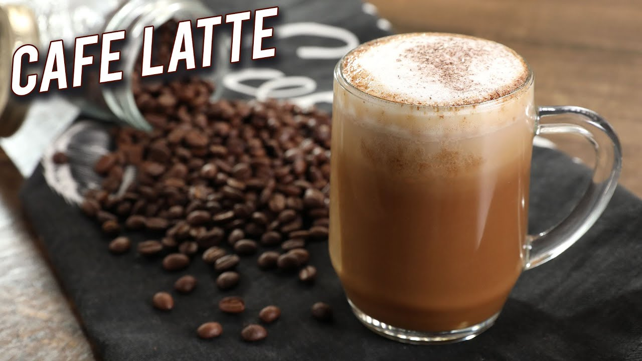 How To Make Cafe Latte Homemade Latte Without Machine Instant Coffee Latte Recipe By Varun Youtube