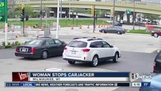 Woman stops carjacker in Milwaukee
